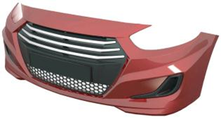 Exterior parts (bumpers, fenders, hoods, laths, khungi, aerodynamic fairings)