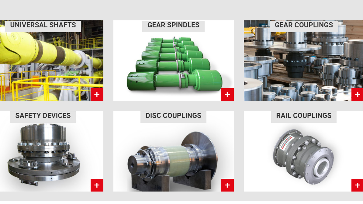 GEAR COUPLINGS, MILL SPINDLES, UNIVERSAL SHAFTS