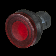 lighting mushroom push button, with sillicon bellows - 22mm