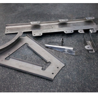 Parts production of titanium sheets, light and special alloys